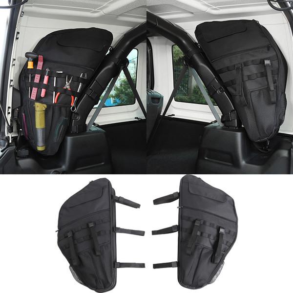 Kofferraum Anti-Roll-Tasche Aufbewahrungstaschen Tool Kit Halter Cargo Organizer Tasche für Jeep Wrangler JL 2018+ Auto Innenzubehör (4 Türer)