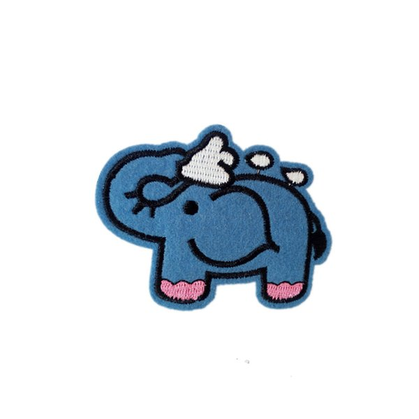 Embroidered cloth patch 8cm * 6.1cm elephant appliques Back gum Iron sewing decorative patch kids T-shirt jeans accessories DL_CPIA031