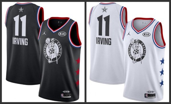 newest 1d697 2f3b6 2018 19 All Boston Star Men Celtics Basketball Jerseys Kyrie Irving Black  White Jersey Beach Wedding Suits Clothing Men From Top_jersey_outlet_06, ...