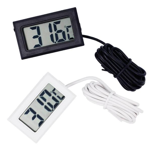 Sonda a cristalli liquidi di vendita calda mini Digital Fridge termometro del congelatore termografo per Frigorifero -50 ~ 110 gradi inclusa batteria