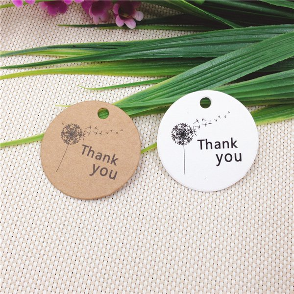 1.18inch Packaging Label 100pcs Brown Kraft /white Paper Tags DIY Cake Round Label Luggage Wedding Party Supplies