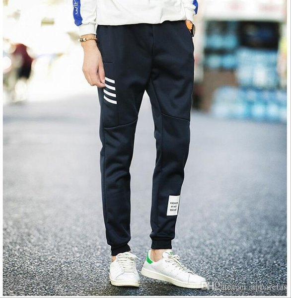 Pop Sports Trousers Mens Youth Slim Nine Pants Mens Casual Factory Direct