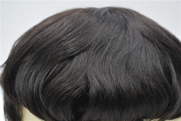 Swiss Lace Men Toupee Lace Front Men Système de remplacement de perruque de cheveux humains Hairpieces Durable Toupee Pour Hommes