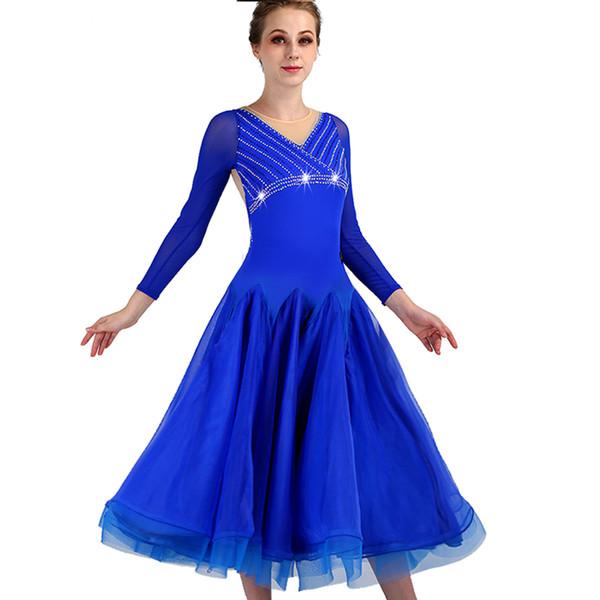 2019 Ballroom Tango Dresses Plus Size Ballroom Dance Costumes Rumba Dress  Costumes Foxtrot Dance Dress Tango Blue Wear From Splendid99, $114.07 | ...