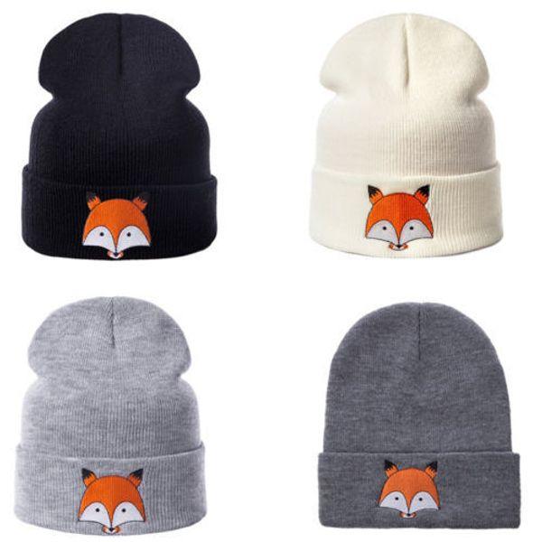 Cute Toddler Kids GirlBoy Baby Infant Winter Warm Crochet Knit Hat Beanie Cap Fox patrón