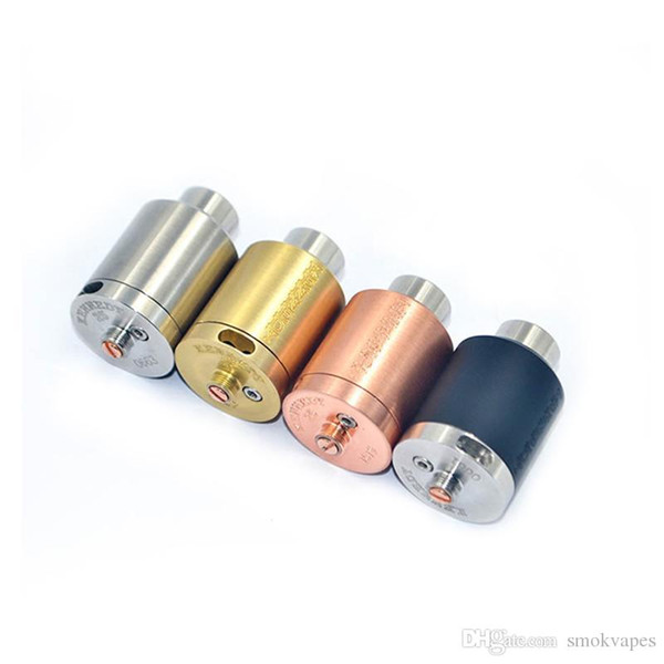 Newest Kennedy 25 Rda Rebuildable Atomizers 25mm Diameter 2 POST SS Black Brass Red Copper PEEK Insulator fit 510 Mods DHL Free
