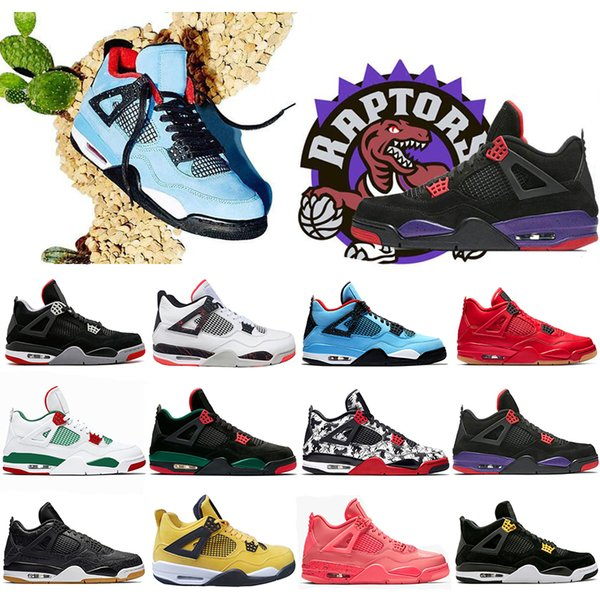 Hot Sale Bred Pale Citron 4 IV 4s Basketball Shoes Travis White Pizzeria Singles Day Black cat mens trainers designer Sports Sneakers