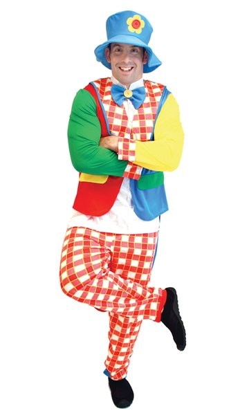 Funny Clown Adult Men Costume  Cute And Amusing Carnival Party
