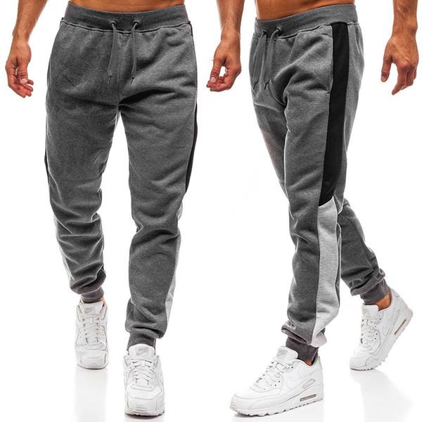35925ea61b259 Hombre Chándal Gimnasio Pantalones deportivos Para hombre Moda Correr Borde  Costura Diseño Pantalones largos Hombres Pantalones