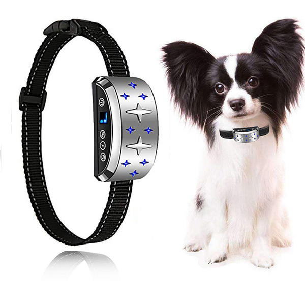 FALIY dog trainer, automatic dog collar, vibration and sound feedback learn good behavior and stop barking, long life rechargeable battery