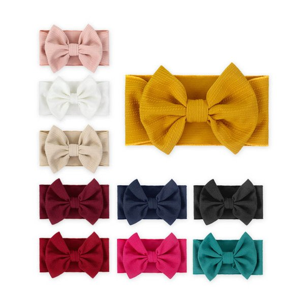 Луки детские повязки новорожденный оголовье девушки дизайнер повязки аксессуары для волос для детей ленты для волос A7304