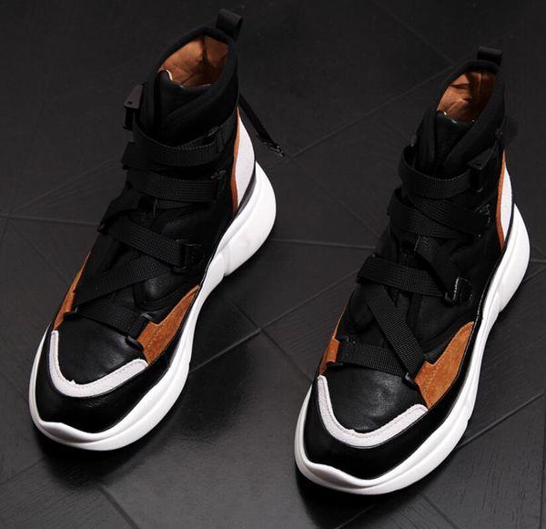 Autumn boots hip hop high help Men's casual shoes metal Sheet wear Men's Sneakers mens Ankle boots