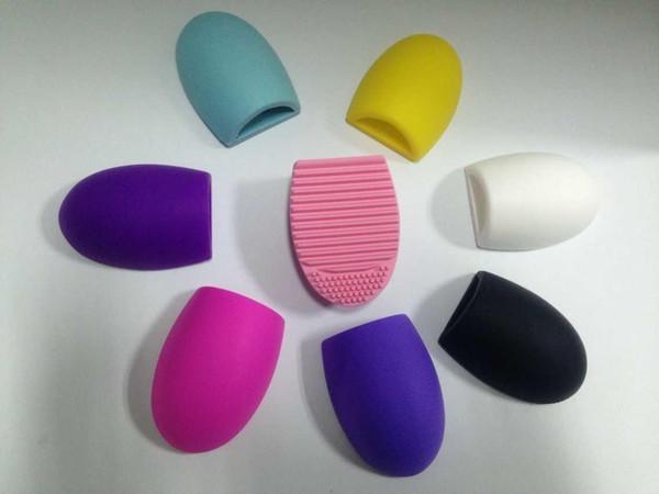 Gant de nettoyage pour oeufs 8 couleurs de maquillage Brosse de lavage Conseil de récurage cosmétique Brushegg Brosse de cosmétique Oeuf de brushegg brosses de nettoyage
