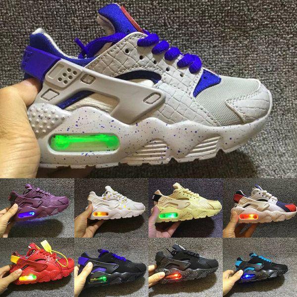 Nike air huarache Zapatillas Air Kids Huarache Run 1 2019 zapatillas deportivas para niños zapatillas de deporte para niños huaraches al aire libre para niños pequeños atléticos