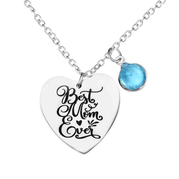 Wholesale Best Mom Ever Mother Quote Charm Pendant Necklace With Diamond  Beads Mother\'S Day Gift Birthday Stainless Steel Engraved Quotes Jewelry  Gold ...