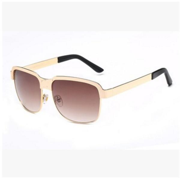 gli occhiali di marca del progettista di alta qualità occhiali da sole classici di Sun per gli uomini donne che guida i vetri UV400 struttura in metallo Flash Specchio Lenti