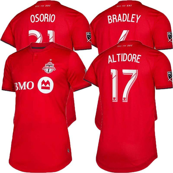 2019 Toronto FC Soccer Jerseys Home 19/20 ALTIDORE BRADLEY GIOVINCO Football Shirts OSORIO MORGAN Red Football Jersey Sports Uniforms