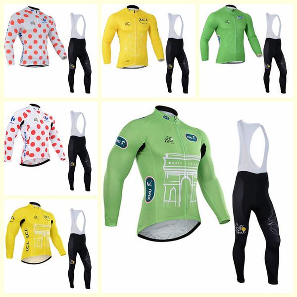 TOUR DE FRANCE équipe salopettes en jersey cyclisme manches longues séries usure rapide de course sec mens printemps et l'automne 2020 U120920 chaud