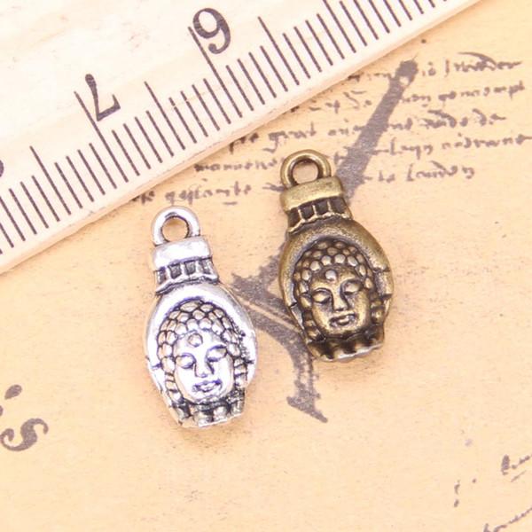 14pcs incanta il buddismo budda palmo 18x8mm Antique ciondoli, gioielli d'argento tibetano, fai da te per la collana braccialetto