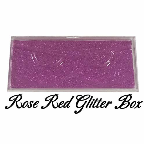 Rose red glitter box