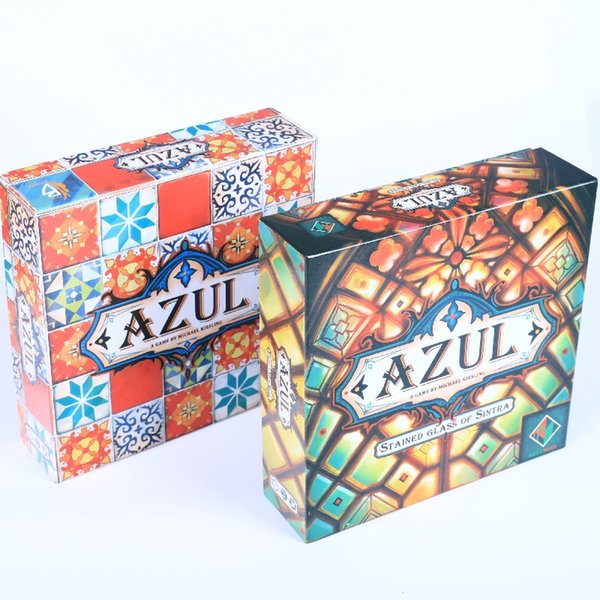 Azul Stained Glass of Sintra and Plan B cards Games Azul Board Game Party Games