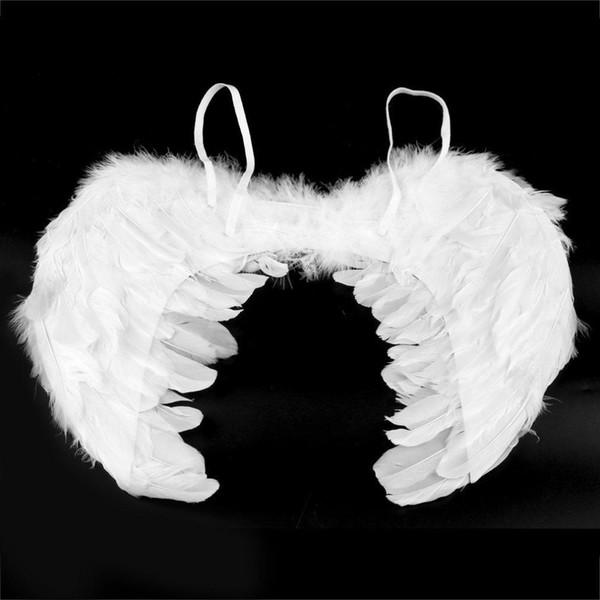 Nouvelle Plume Fée Ange Ailes Partie Costume De Déguisement Accessoire 45 * 35cm Plume Ailes Halloween Costume De Déguisement Accessoire sexy