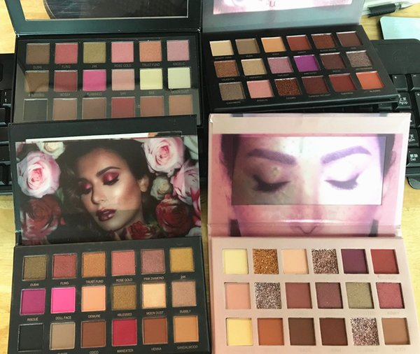 In tock makeup beauty 18color eye hadow palette ro e gold rema tered textured eye hadow palette matte himmer dhl hipping