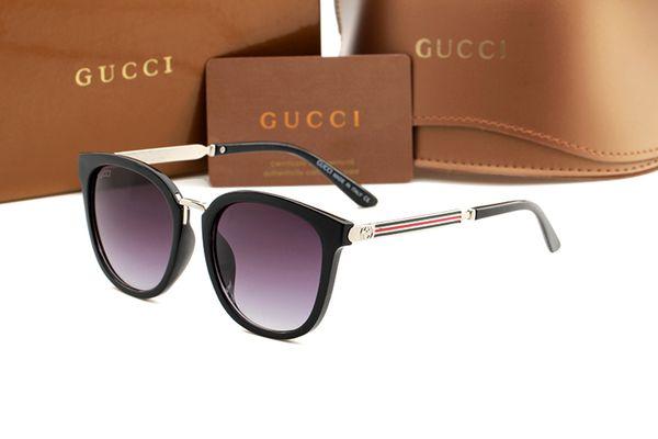 nouvelle mode classique lunettes de soleil attitude lunettes de soleil cadre en or cadre en métal carré style vintage design en plein air modèle classique 3052