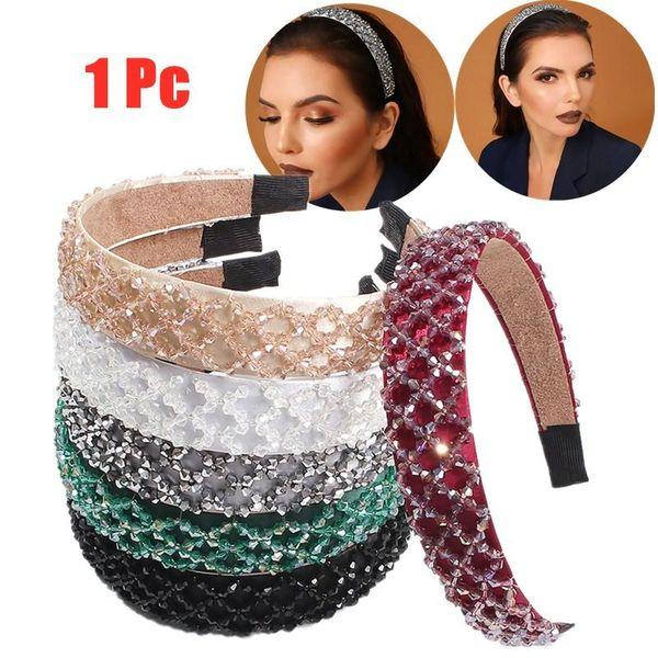 Tricoter cheveux Hoop main Perles Head Hoop Fashion Band cheveux Décoration pour femmes Gris clair