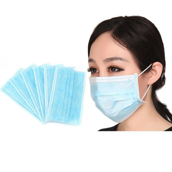 best selling DHL Disposable Face Mask 3-layer Protective Face Mask Anti PM2.5 Adult Breathable Facial Dust Mask In Stock Ship In 24hrs