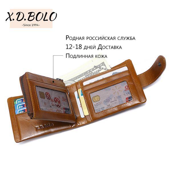 DX BOLO 2019 Männer Geldbörsen Berühmte Marke Mens Wallet Leder Geldbörse Karte Geldeingang Halter Veranstalter Bifold Geldbörse Tasche