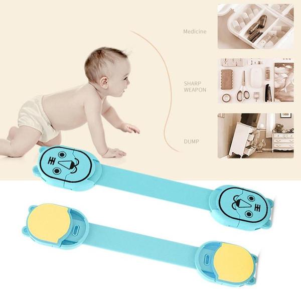 5 pezzi / lotto multi funzione sicurezza blocco di plastica per bambini carino porta a porta serratura toilette Cartoon Baby Security Drawer
