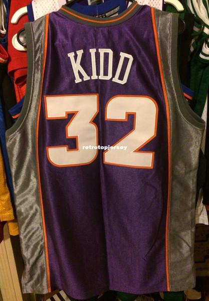 Pas cher en gros Jason Kidd # 32 Maillot Pro Nwt Nouveau Champion T-shirt gilet Maillots De Basket Surpiqués Ncaa