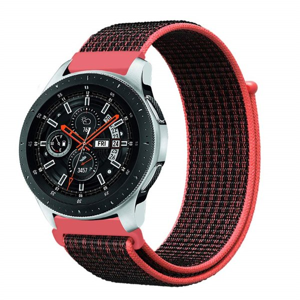 For Samsung Galaxy Watch 46mm/Gear S3 Frontier Classic Smartwatch 22mm 20mm Lightweight Nylon Replacement Sport Loop Wrist Strap