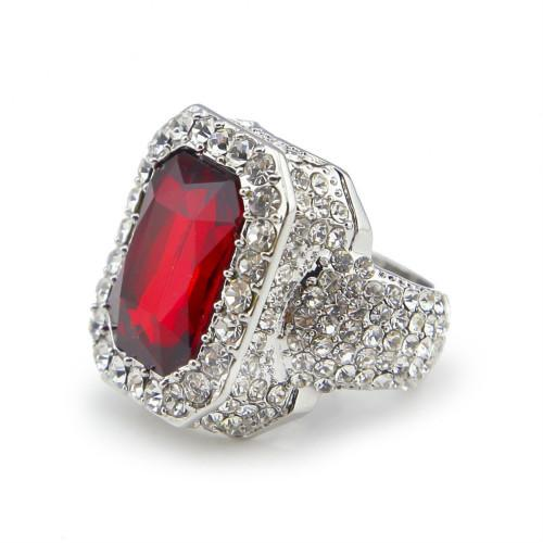 Silver with ruby