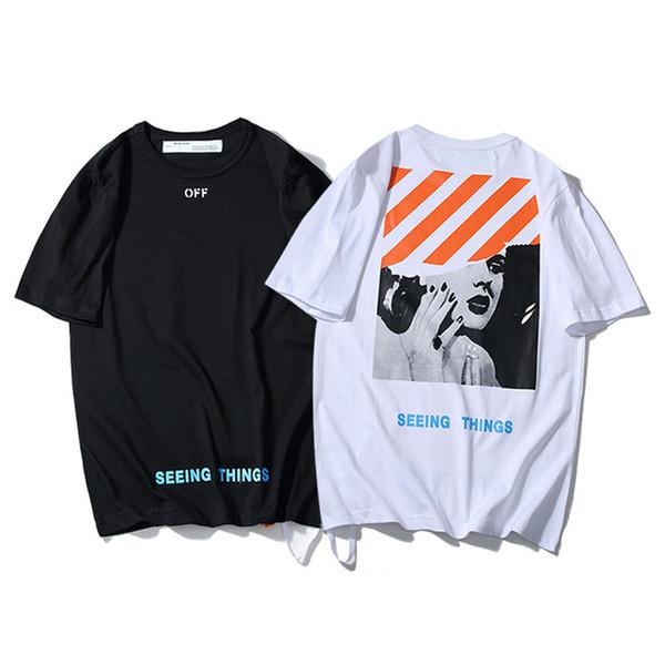 Chao Monroe TEE de manga corta con cruz de cebra Marea hermosa Amantes de los hombres y las mujeres con párrafo fácil de algodón puro T camiseta