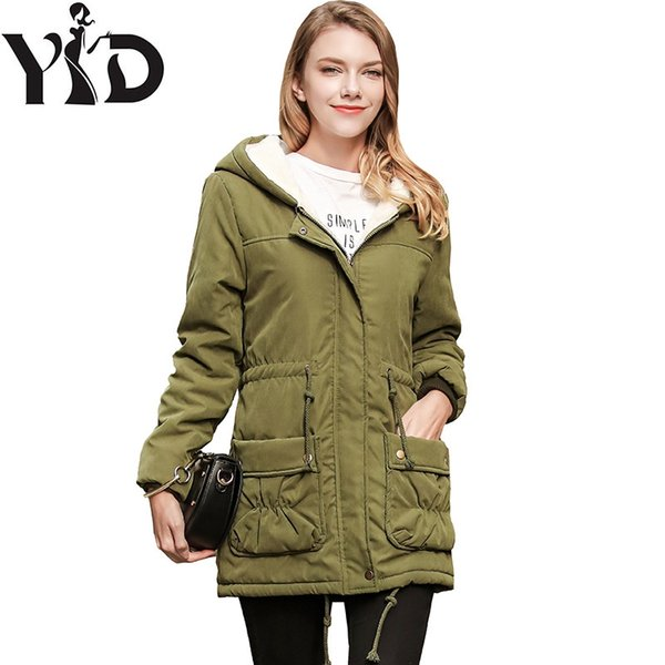 The new winter 2018 female cotton coat Cultivate one's morality in ms long hooded cotton-padded jacket