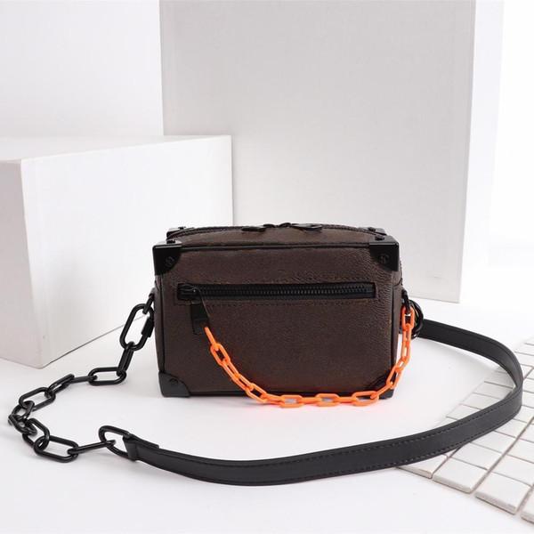 Newest Men S Shoulder Bag High Quality Luxury Bag Fashion Alphabet Pattern Paris Mini Soft Trunk Handbag Size 19x13x8cm Model M44480
