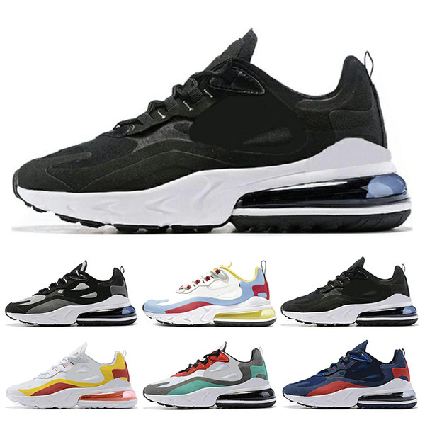Nike Air Max 270 React Para Hombre Zapatos Para Correr Para Mujer Bauhaus Blanco Negro De Calidad Superior Respirable Exterior Cushion Sports Sneaker