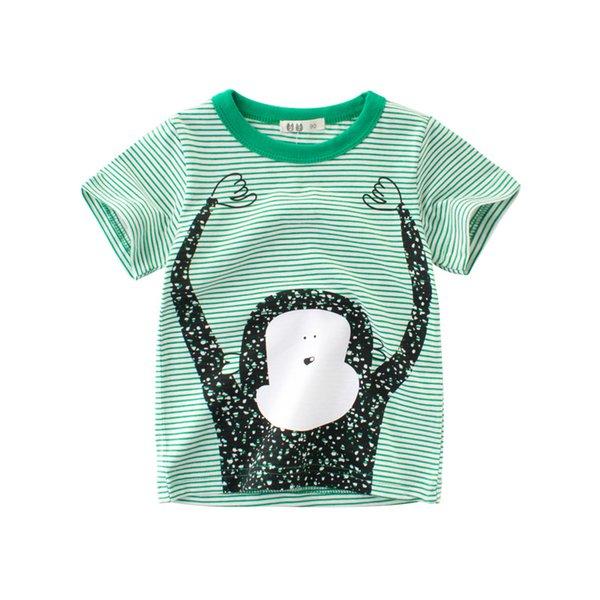 Мальчики девочки футболки полоса tee 100% хлопок мягкие топы дети дети верхняя одежда одежда футболка с короткими рукавами круглый шеи летний наряд 2-10T