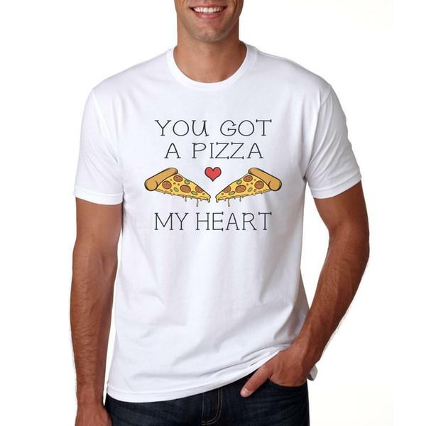Tu as une pizza, mon coeur - T-Shirt Cadeau Hommes / Femmes Drôle Saint Valentin Amour Hommes Femmes Mode Unisexe T-shirt Livraison Gratuite