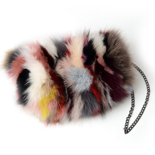 good quality Real Fox Fur Women Messenger Bags Designer Winter New Fashion Ladies Chain Crossbody Shoulder Handbag Clutch Bag