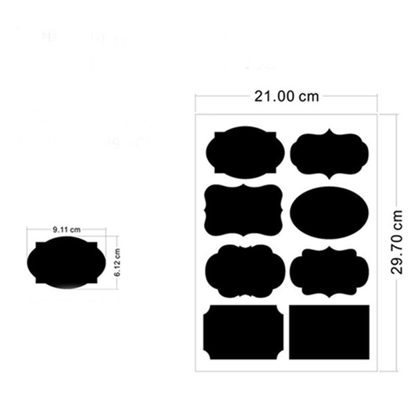 Chalkboard Labels Blackboard Sticker Label small Pantry Storage Stickers diy Removable Waterproof for Jars Glass Bottle