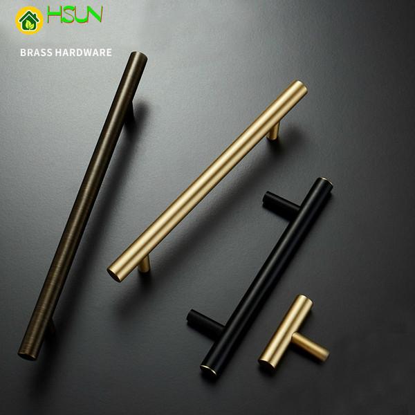 2pcs Gold Cabinet Handles Furniture Drawer Pulls Solid Brass Kitchen Cupboard  Cabinet Door Hardware Knobs Accessories