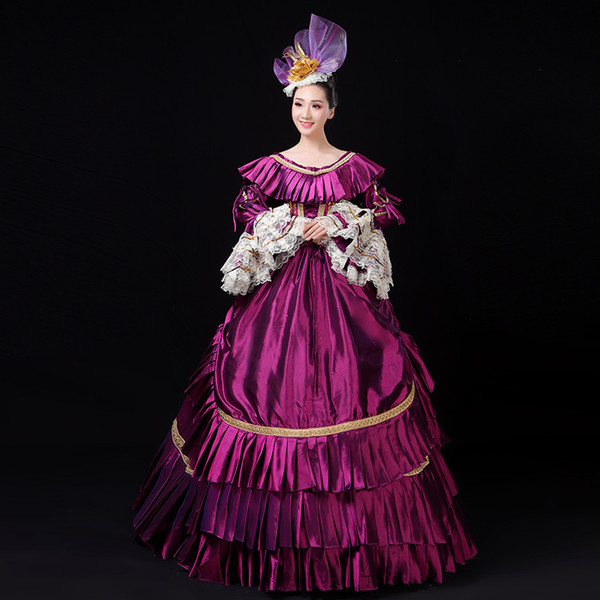 18th Century European Style Long Flare Sleeve Marie Antoinette Dresses Nightclub Activity Prom Party Ball Gowns Customized