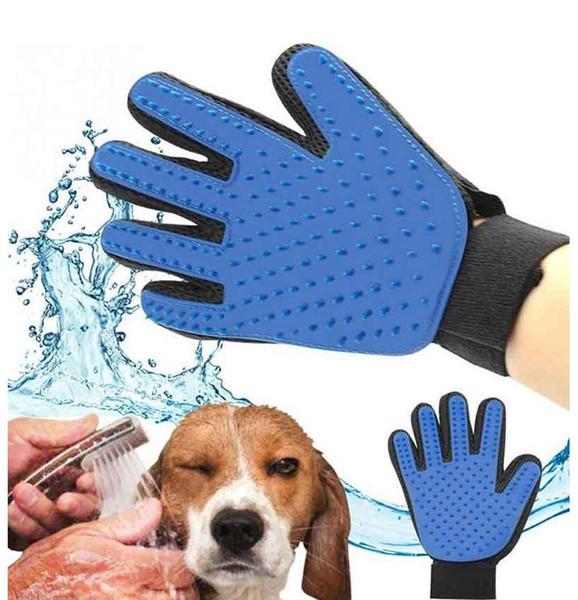 Haustier Hund Haarbürste Kamm Handschuh für Haustier Reinigung Massage Pflege Versorgung Handschuh für Tier Finger Reinigung Katze Haar Handschuh 4 Farben