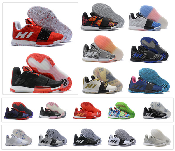 0e5d01f10c4 3 III MVP Basketball Shoes Weaving Sneakers Men Red Grey Black James Harden  3s Trainers Sports Shoes Size 7-11.5 - dhgate.com - imall.com