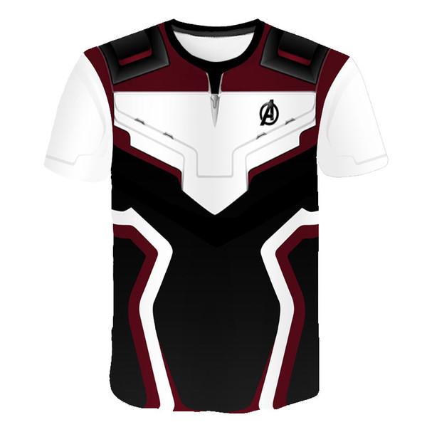 3D Endgame Realm Cosplay T-shirt Iron Man Captain Marvel Black Widow Costume Sport Tight Tees Dropship