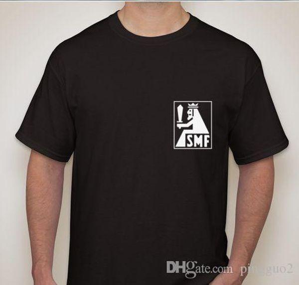 SMF Solingen WW2 WWII German Dagger sword knife blade maker mark logo T shirt Mens Tops Cool O Neck T-Shirt Short Sleeve Hipster