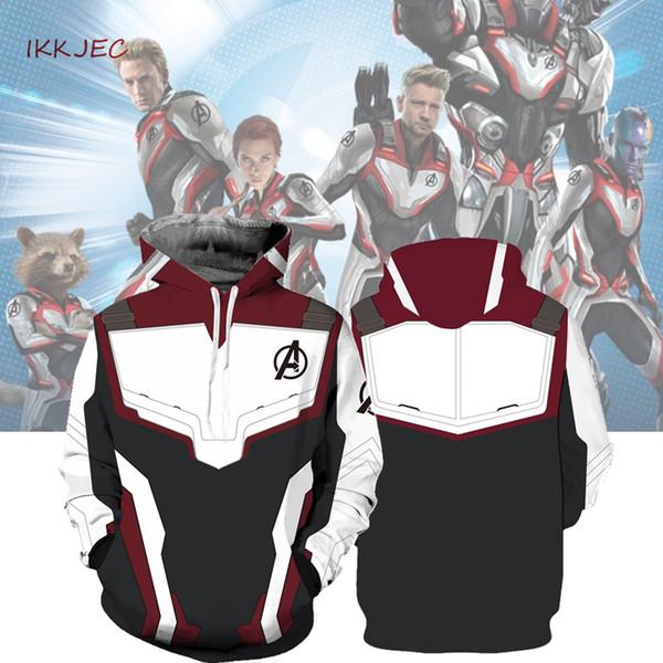 Hoodie Cosplay Endspiel Quantum Realm Sweatshirt Jacke Advanced Tech Kostüme Avengers Endspiel Hood Superheld Hoodies C19040101